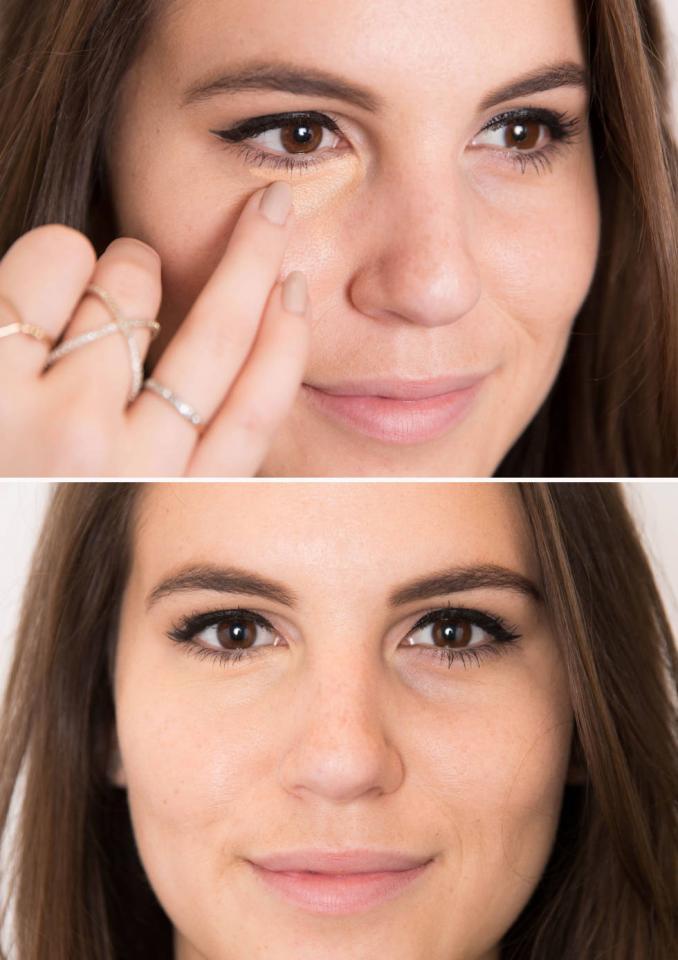 Finger blend concealer