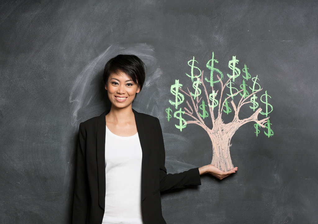 Investing woman