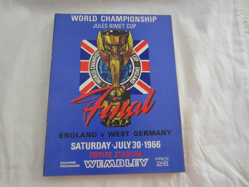 England vs. West Germany at Wembley 1966 programme